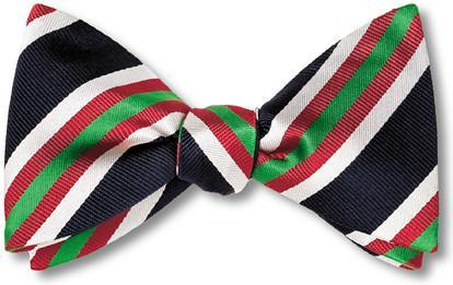 bow ties american made black red green stripes