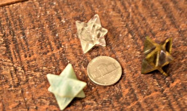 Merkaba carvings, Sacred Geometry for crystal grids, small size; FB1587