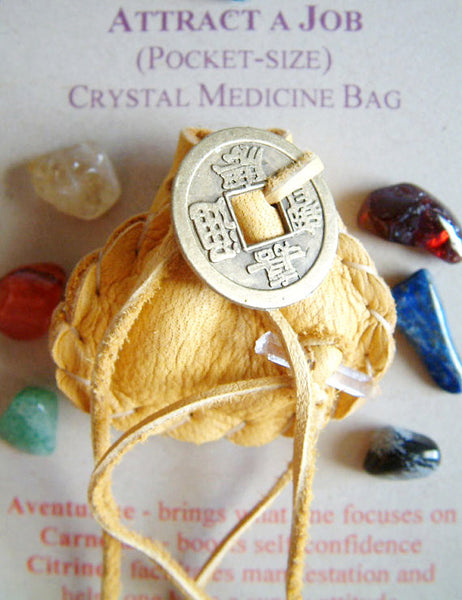 Crystal Medicine Bag - Pocket Size - Attract a Job