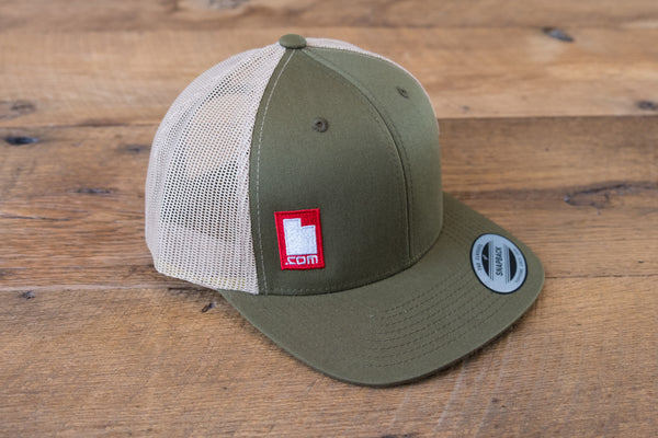 Retro Trucker Hat - Green/Red
