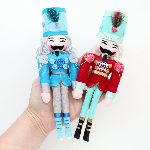 Nutcracker Doll - Blue or Red