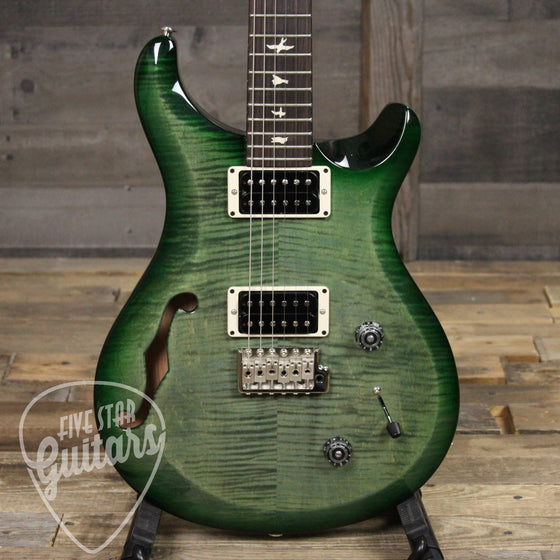 PRS S2 Custom 22 Semi-Hollow Moss Green with Gig Bag