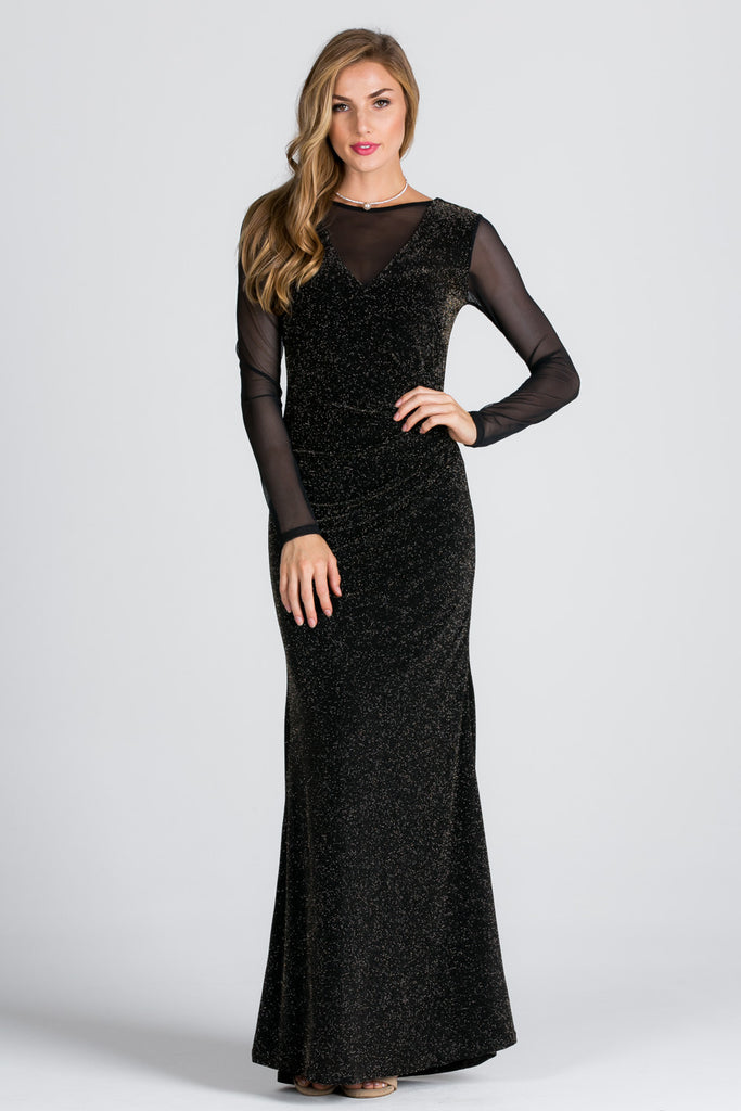 Celestial Metallic Long Dress - Adore Fashion