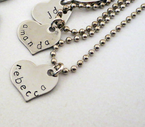 Custom Heart Necklace  - Personalize with Initials, Name or Date