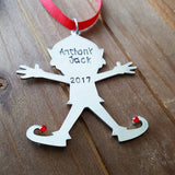Kid Name Elf Ornament - Perfect for a Toddler!
