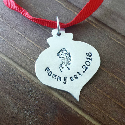 New Mommy Christmas Ornament Mini