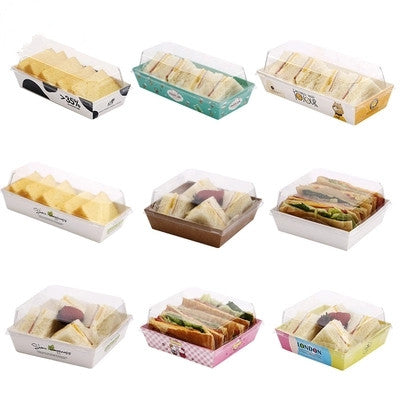 Sandwich Box Square w/ Clear Lid 100ct