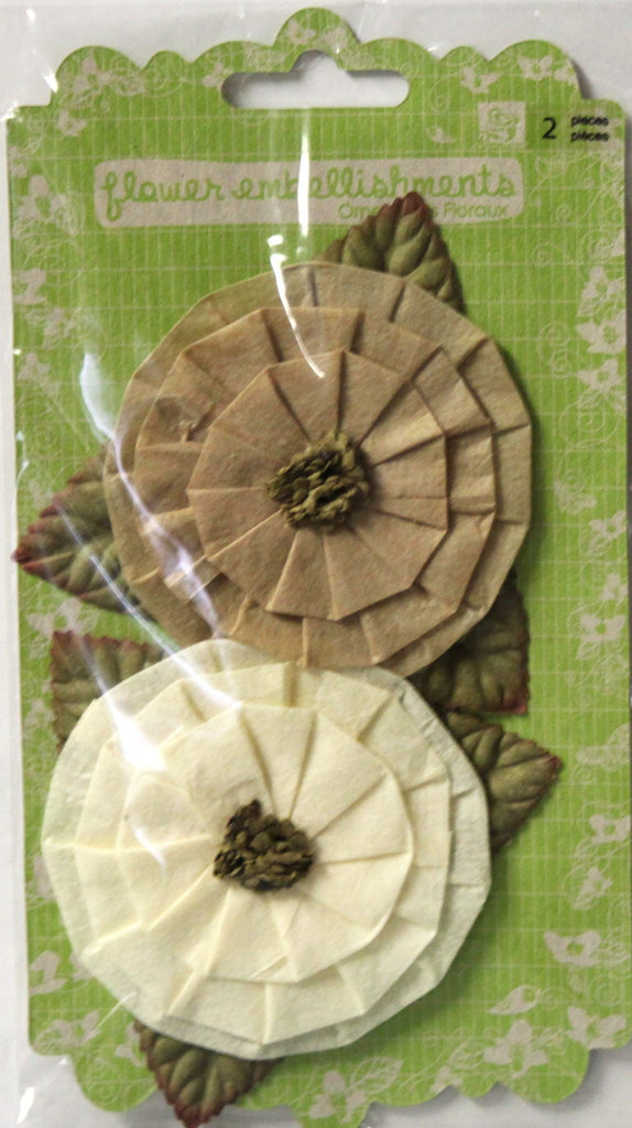Prima Marketing, Inc. Prima Fairy Ring Antique Lace Flowers Embellishment Ornaments - SCRAPBOOKFARE