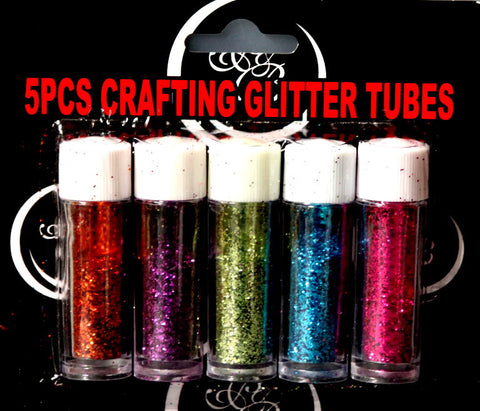 5 Piece Crafting Glitter Tubes Set - SCRAPBOOKFARE