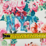 FS144_1 Floral New York Print | Fabric Styles