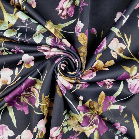 FS334 Purple Floral - Fabric Styles