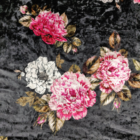 Floral Crushed Velvet | Fabric Styles