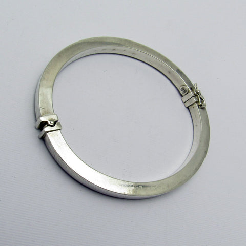 Sterling Hinged Square Bangle Bracelet