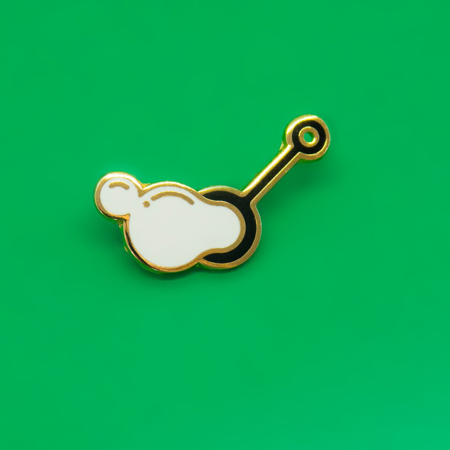 Bubble Wand Enamel Pin