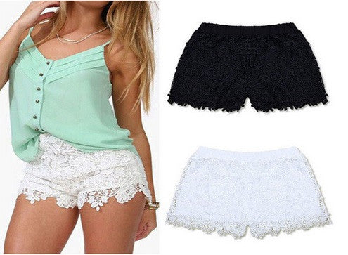 NEW! Women's Cotton Laced Shorts - Hot100Fashions