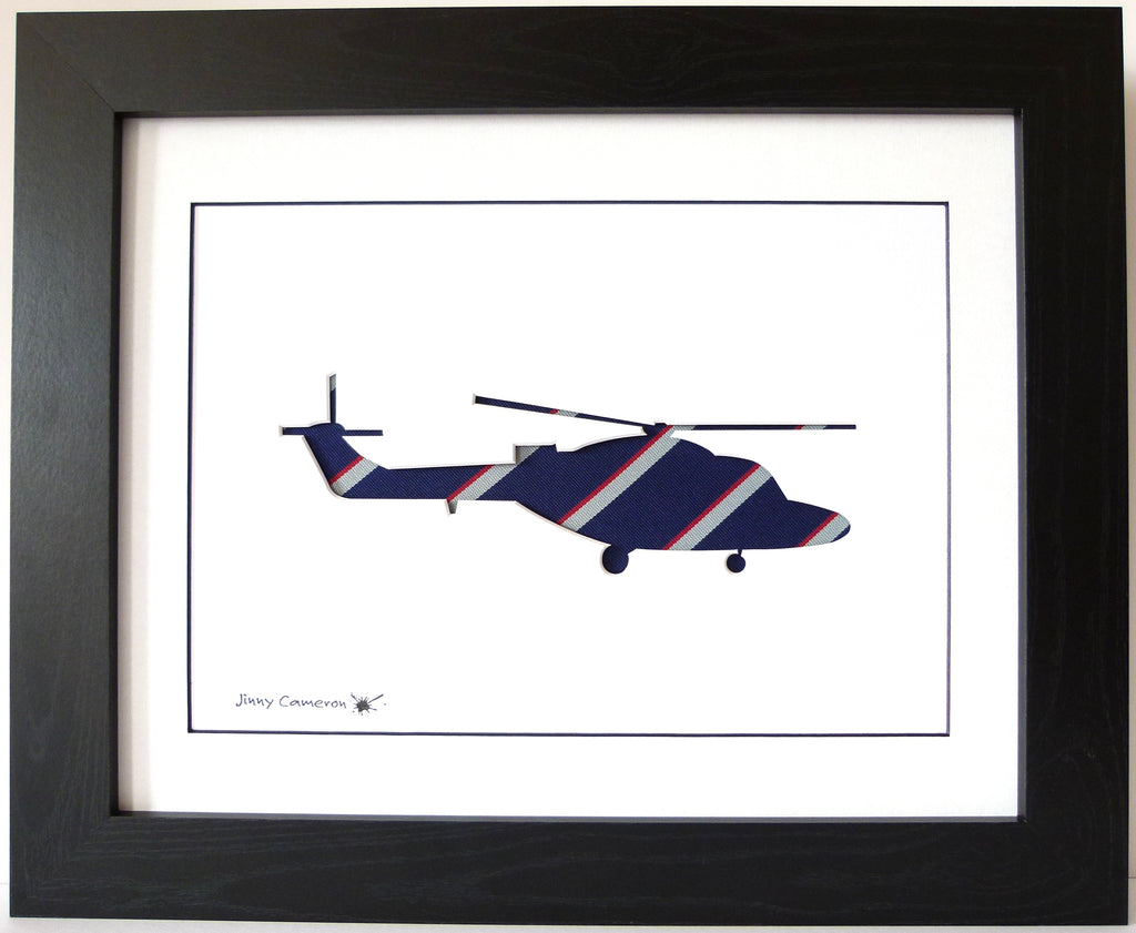lynx in army air corps tie wall art picture helicopter