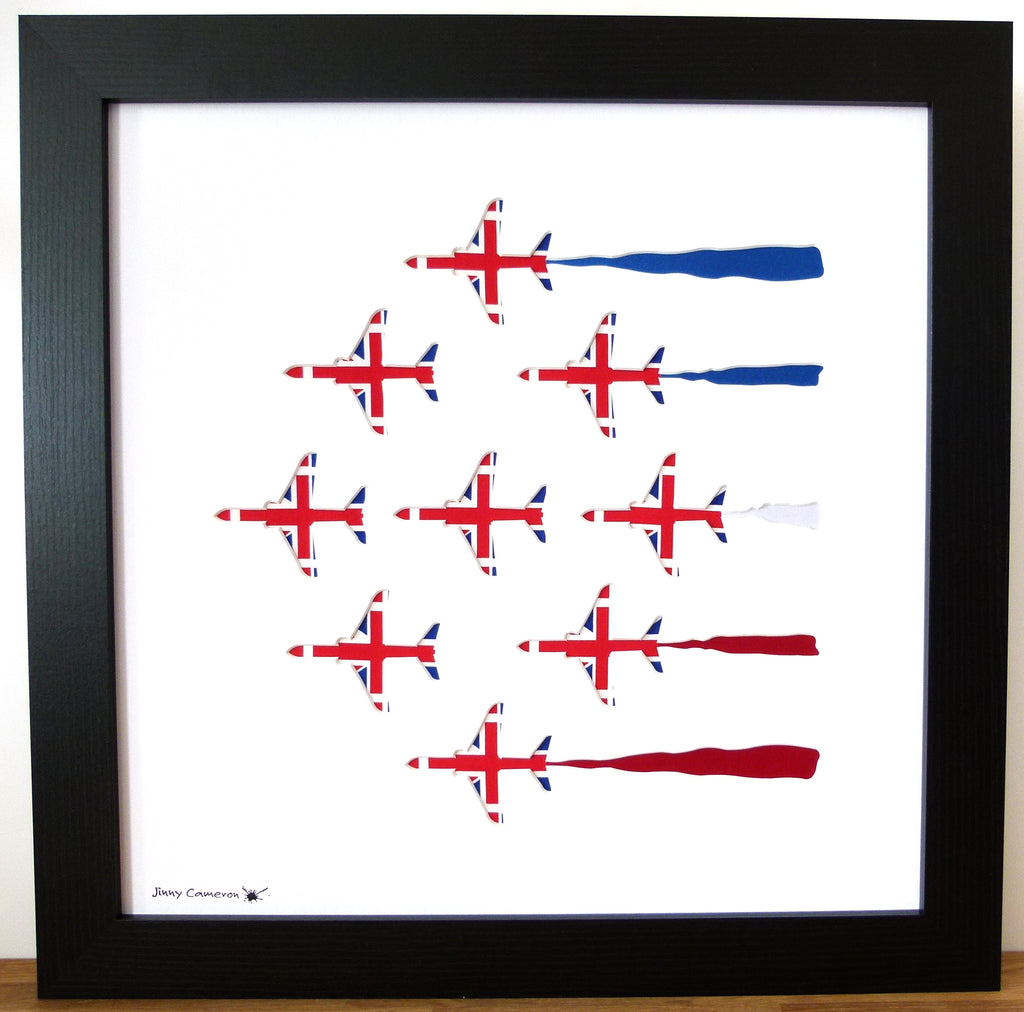 Concorde Red Arrows Union Jack Union Flag Card Greeting Card Handmade