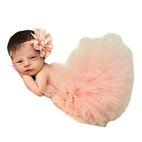 Fashion Unisex Newborn Girl Baby Outfits Photography Props Headdress Tutu Skirts