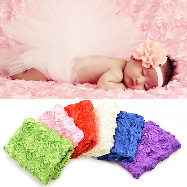 Newborn 3D Rose Background Blanket Baby For Photography Props