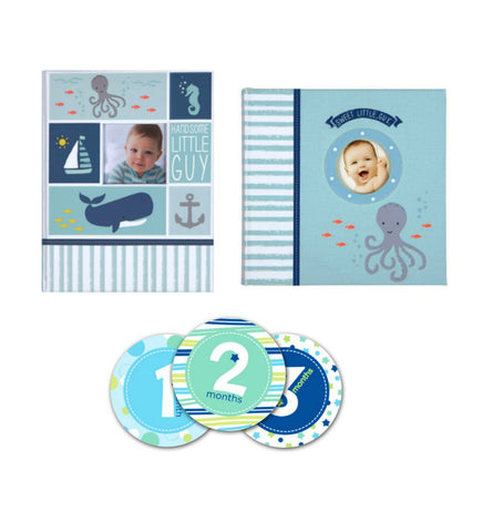 New Carters Under Sea Baby Memory Book Gift Set