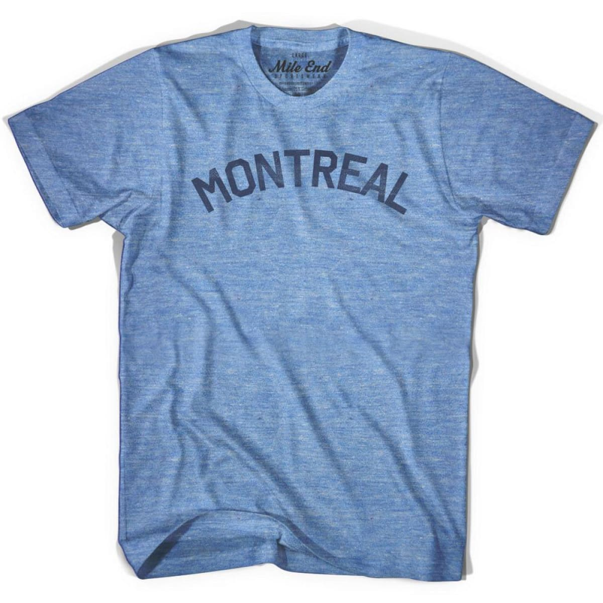 Montreal City Vintage T-shirt - Athletic Blue / Adult X-Small - Mile End City