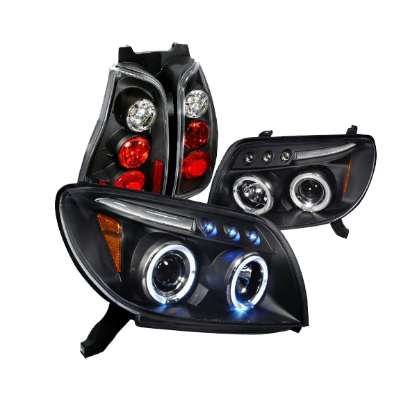 Toyota 4runner Black Halo Projector Headlights Altezza Tail lights