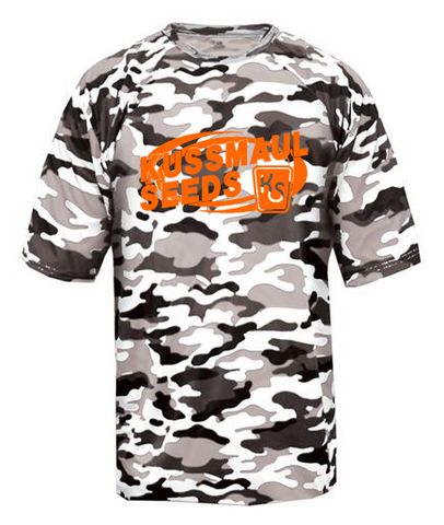 4181- White Camo Badger Adult Camo Tee