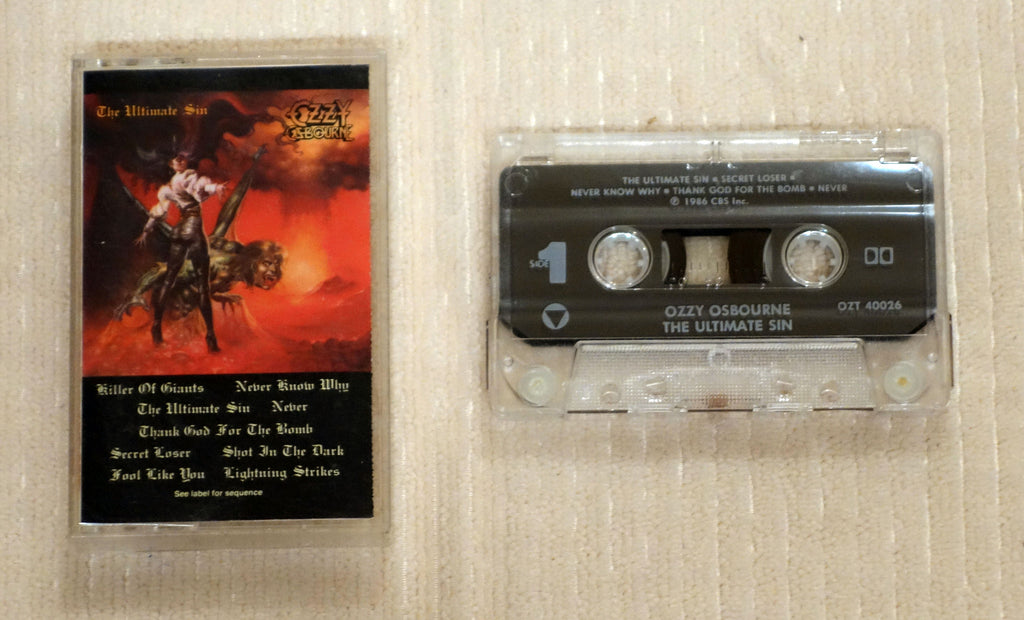 Ozzy Osbourne ‎– The Ultimate Sin - Cassette