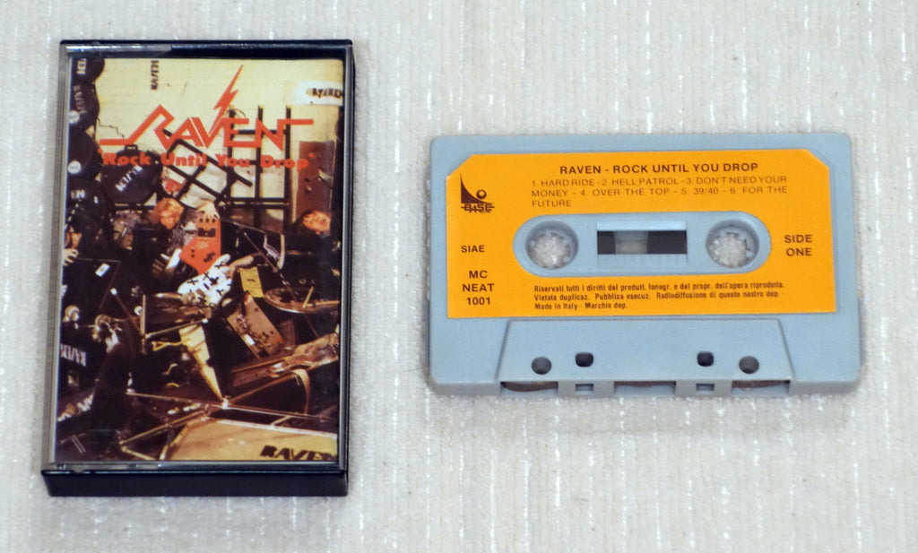 Raven ‎– Rock Until You Drop - Cassette