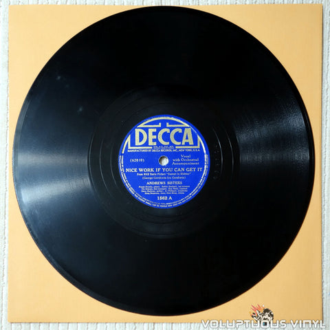 Andrews Sisters, The - Nice Work If You Can Get It - Shellac