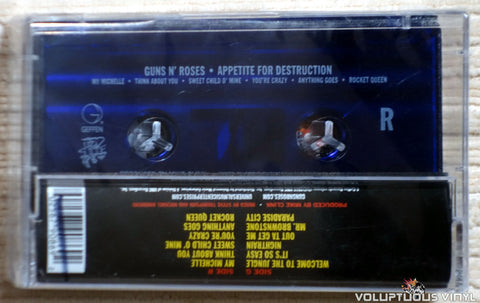 Guns N' Roses ‎– Appetite For Destruction cassette tape back