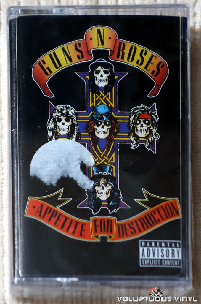 Guns N' Roses ‎– Appetite For Destruction cassette tape front