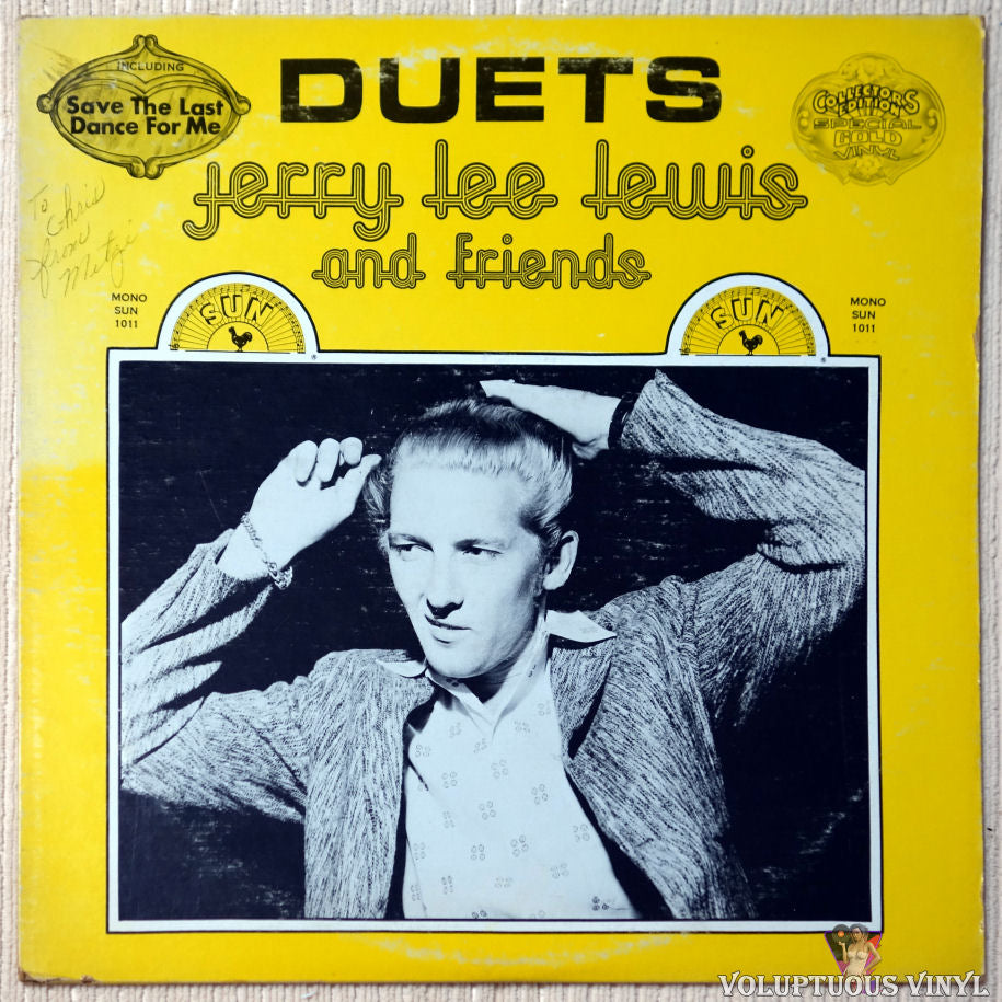 Jerry Lee Lewis And Friends ‎– Duets vinyl record front cover