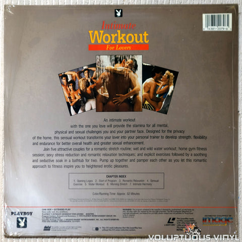 Playboy Intimate Workout For Lovers laserdisc back cover
