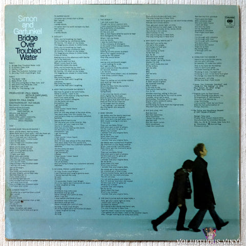 Simon & Garfunkel ‎– Bridge Over Troubled Water vinyl record back cover