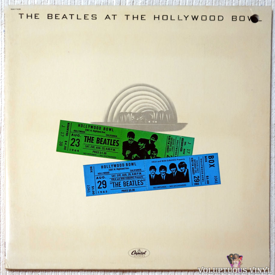 The Beatles ‎– The Beatles At The Hollywood Bowl vinyl record front cover