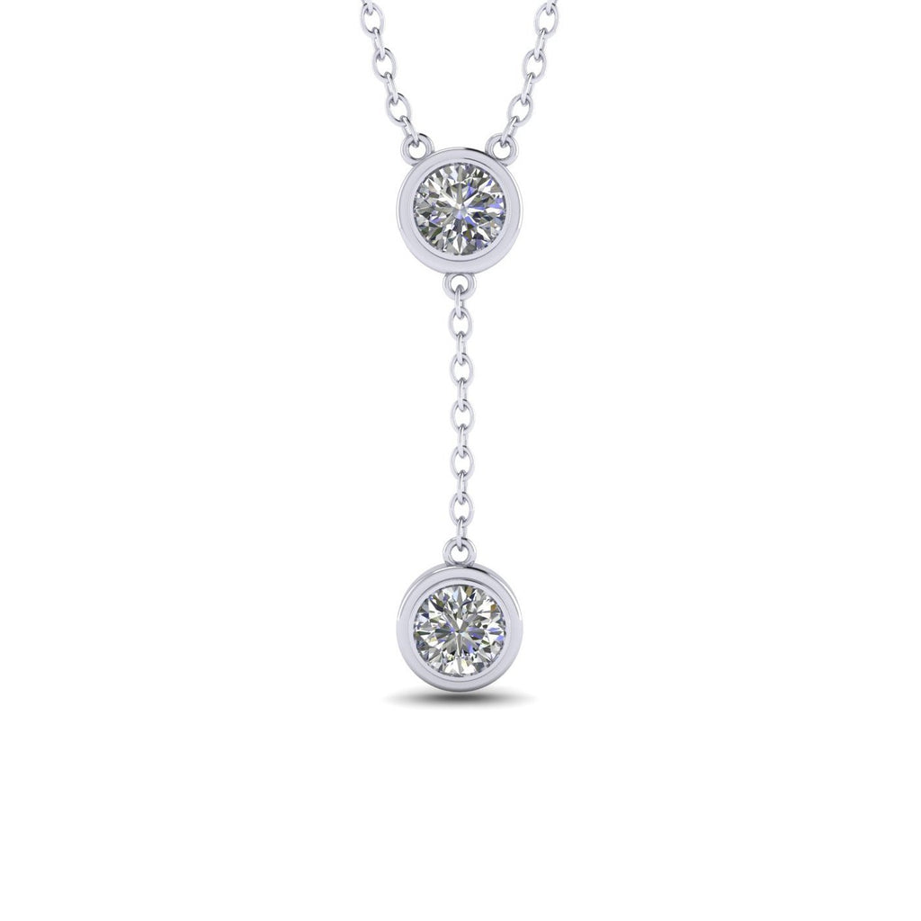 Daily Deal 0.90 carat Bezel Drop Diamond Pendant
