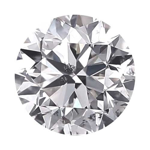 Loose Diamond 1.7 carat Round Diamond - F/I1 CE Good Cut - AIG Certified