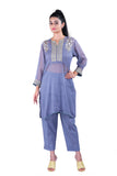 Grey Georgette kurta