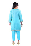 Blue Soft Silk kurta