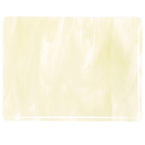 Clear, French Vanilla Opal Streaky (2037) 3mm-1/2 Sheet-The Glass Underground