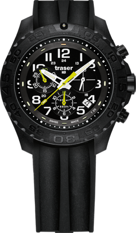 Traser P96 Outdoor Pioneer Chronograph Silicone Black 105199