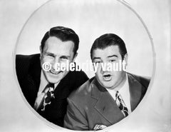 Abbott & Costello in Bicorne Hat Premium Art Print