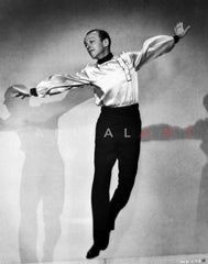 Fred Astaire Ballet Leaping in Black and White Premium Art Print