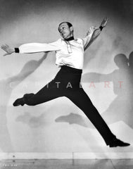 Fred Astaire Portrait in Black and White Premium Art Print
