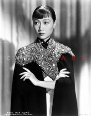 Anna Wong Leaning on a Table Premium Art Print