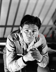 John Garfield Jumping in White Portrait Premium Art Print