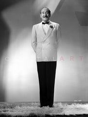 Billy Eckstein Posed in Sweater With White Background Premium Art Print