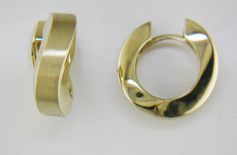 14k Yellow Gold S-Curve Huggies