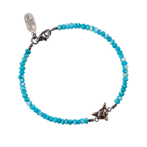 Fox on Turquoise Stone Bracelet